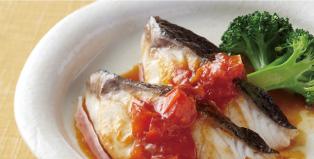 白身魚のトマぽんソース